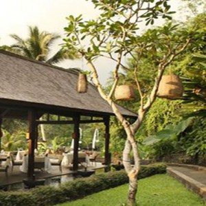 Bali Honeymoon Packages The Samaya Ubud Swept Away Restaurant Entrance