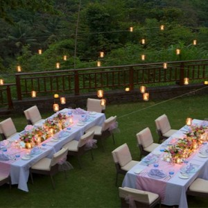 Bali Honeymoon Packages The Samaya Ubud Wedding Dining Setup1