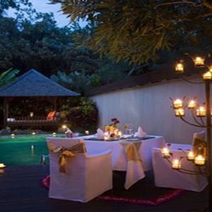 Bali Honeymoon Packages The Samaya Ubud Dinner At Villa