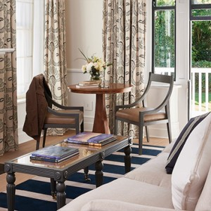 Belmond Mount Nelson, Cape Town - Luxury South Africa Honeymoon Packages - Garden Cottage suite living room