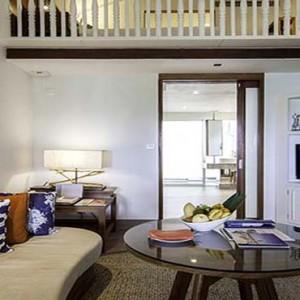 Centara Grand Island Resort & Spa - Luxury Maldives Honeymoon Packages - Beach Suite living area