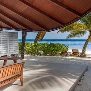 Centara Grand Island Resort & Spa - Luxury Maldives Honeymoon Packages - Beach Suite terrace