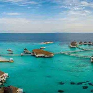 Centara Grand Island Resort & Spa - Luxury Maldives Honeymoon Packages - aerial view