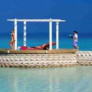 Centara Grand Island Resort & Spa - Luxury Maldives Honeymoon Packages - open-air lounge