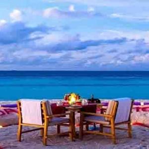 Centara Grand Island Resort & Spa - Luxury Maldives Honeymoon Packages - private beachside dining1
