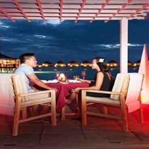 Centara Grand Island Resort & Spa - Luxury Maldives Honeymoon Packages - private romantic dining