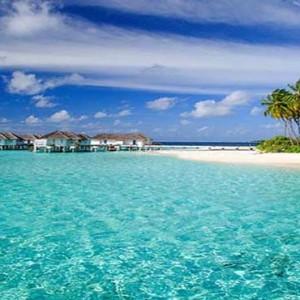 Centara Grand Island Resort & Spa - Luxury Maldives Honeymoon Packages - view of overwater villas
