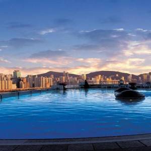 Harbour Grand Kowloon - Luxury Hong Kong Honeymoon Packages - Pool at night