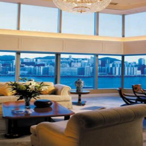 Harbour Grand Kowloon - Luxury Hong Kong Honeymoon Packages - The Presidential Suite (19F) living room