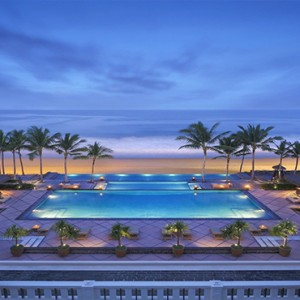 Legian Bali Seminyak - Luxury Bali Honeymoon Packages - Pool at night