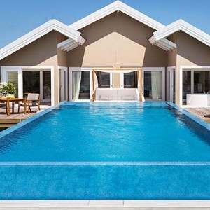 Lux South Ari Atoll - Luxury Maldives Honeymoon Packages - Temptation Pool Water Villa pool exterior