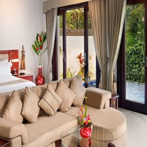 Luxury Bali Honeymoon Packages Viceroy Bali Deluxe Terrace Pool Villa Bedroom