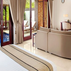 Luxury Bali Honeymoon Packages Viceroy Bali Deluxe Terrace Pool Villa Bedroom1