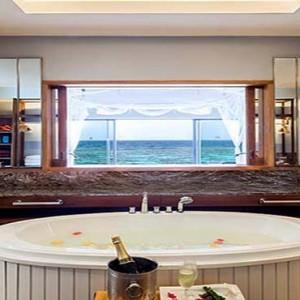 Centara Grand Island Resort & Spa - Luxury Maldives Honeymoon Packages - Ocean Water Villa bathroom view