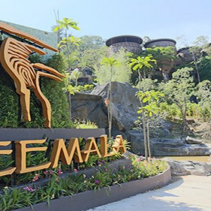 Keemala Phuket - luxury Thailand Honeymoon Packages - Front entrance with sign