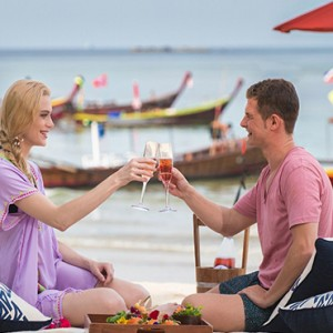 Keemala Phuket - luxury Thailand Honeymoon Packages - Picnic on deck