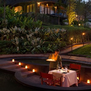 Keemala Phuket - luxury Thailand Honeymoon Packages - Private romantic dining