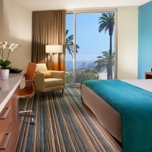 ParPartial Ocean View Rooms - the shore hotel santa monica - luxury los angeles honeymoon packages
