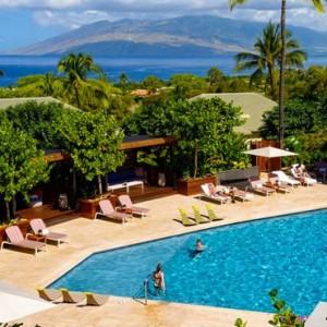 Pool - hotel wailea maui - luxury hawaii honeymoon packages