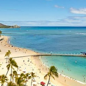Rainbow Tower Ocean Front Room - Hilton Hawaiian Waikiki Beach - Luxury Hawaii Honeymoon Packages