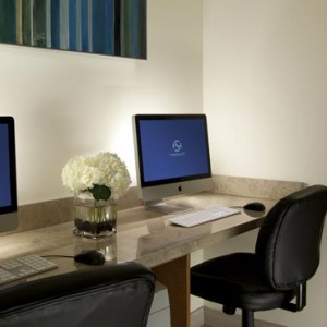 business center 2 - the shore hotel santa monica - luxury los angeles honeymoon packages