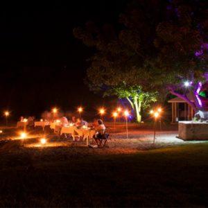 Dining On The Beach At Night Montpelier Plantation & Beach St Kitts & Nevis Honeymoons