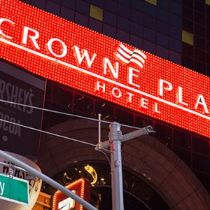 exterior 2 - Crowne Plaza Times Square - luxury New York Honeymoon Packages