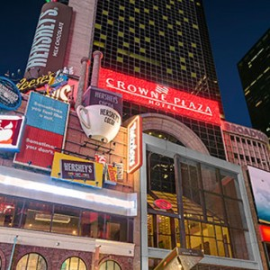 exterior 3 - Crowne Plaza Times Square - luxury New York Honeymoon Packages