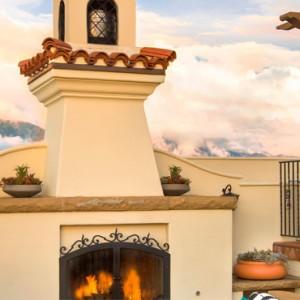 fireplace - Kimpton canary Hotel Santa Barbra - Luxury Los Angeles Honeymoon Packages