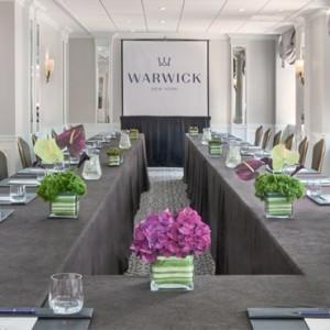 meeting room 3 - Warwick New York Hotel - Luxury new york honeymoon packages