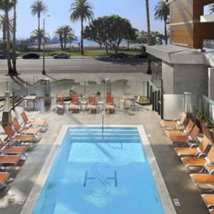 pool - the shore hotel santa monica - luxury los angeles honeymoon packages