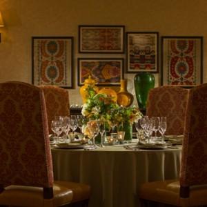 private dining - Kimpton canary Hotel Santa Barbra - Luxury Los Angeles Honeymoon Packages