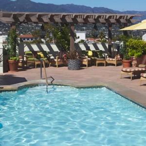 rooftop pool - Kimpton canary Hotel Santa Barbra - Luxury Los Angeles Honeymoon Packages