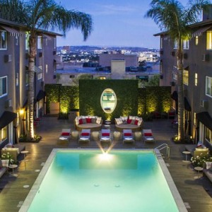 Los Angeles Honeymoon Packages Grafton On Sunset Hollywood Pool 3