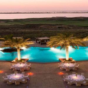 Abu Dhabi Honeymoon Packages Radisson Blu Hotel, Abu Dhabi Yas Island Banquet Poolside And Landscape
