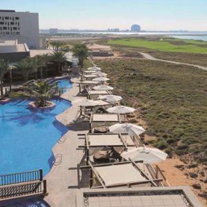Abu Dhabi Honeymoon Packages Radisson Blu Hotel, Abu Dhabi Yas Island Outdoor Pool Area