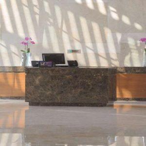 Abu Dhabi Honeymoon Packages Radisson Blu Hotel, Abu Dhabi Yas Island Reception Desk