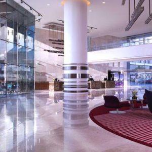 Abu Dhabi Honeymoon Packages Radisson Blu Hotel, Abu Dhabi Yas Island Lobby