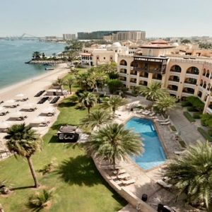 Abu Dhabi Honeymoon Packages Shangri La Hotel Qaryat Al Beri Aerial View