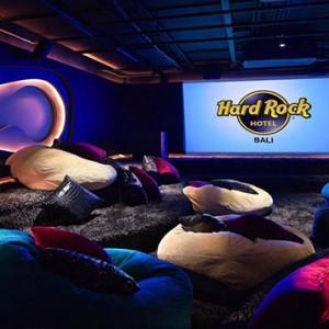 Bali Honeymoon Packages Hard Rock Hotel Bali Private Cinema Area