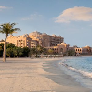 Beach In Morning Emirates Palace Abu Dhabi Abu Dhabi Honeymoons