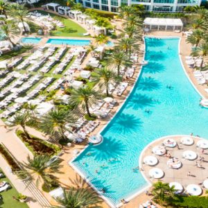 Bowtie And Oasis Pool Fontainebleau Miami Beach Miami Honeymoons