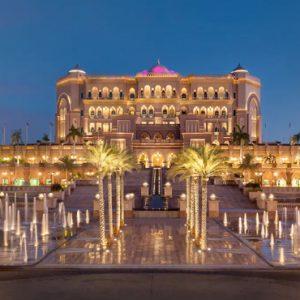 Exterior Fountains At Night Emirates Palace Abu Dhabi Abu Dhabi Honeymoons