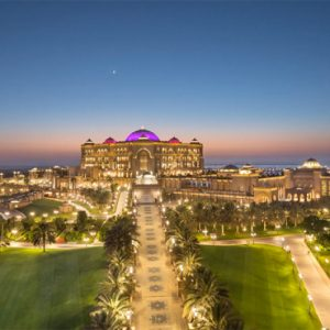 Hotel Exterior At Night Emirates Palace Abu Dhabi Abu Dhabi Honeymoons