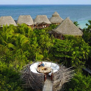 Mexico Honeymoon Packages Azulik Resort And Spa Aerial View Of Kin Toh