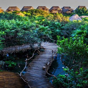 Mexico Honeymoon Packages Azulik Resort And Spa Pathway View