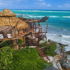 Mexico Honeymoon Packages Azulik Resort And Spa View Of Hotel