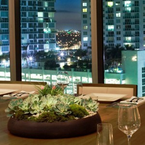 Miami Honeymoon Packages Kimpton EPIC Hotel Miami Private Dining