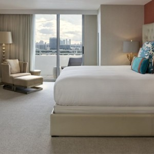 Miami Honeymoon Packages Loews Miami Beach Hotel Presidential City Skyline View Balcony Suite