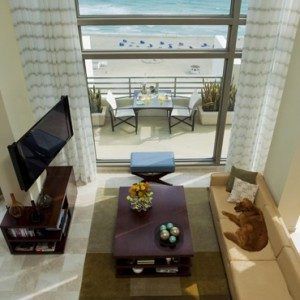 Miami Honeymoon Packages Loews Miami Beach Hotel Presidential Ocean Front Balcony Suite 2